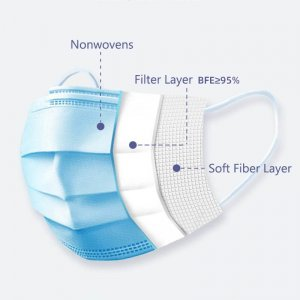 3 layer disposable surgical mask 2